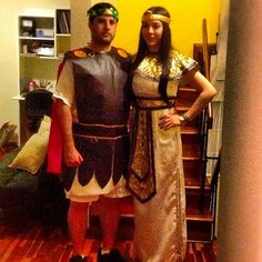 Pin for Later: 25 Halloween Costumes For the Most Romantic Couple on the Block Caesar and Cleopatra