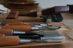 hand  carved  tools
