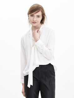 I'm sure you could get 40% off! Similar quality to Jcrew and less expensive  Tie-Front Blouse Product Image