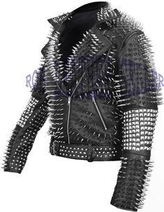 #Classic #Black #Brando #Belted #Leather #Jacket #Silver #Spike #Studded #Leather #Brando #Jacket #Spiked #Women #Leather #Jacket #Ladies #Biker #Jacket Studded Leather Jacket, Soft Leather, Black Leather, Laptop Bag For Women, Leather Working, Biker, Jackets For Women, Vintage Fashion, Trending Outfits