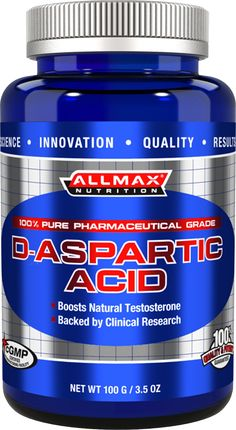 Allmax Nutrition D-Aspartic Acid (DAA) 100 Grams