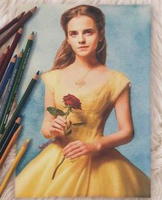 Amazing drawing of Belle