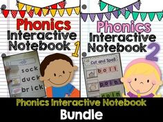 Phonics Interactive Notebook This bundle comes with my part 1 bundle and my part 2 phonics notebooks. Take a closer look at the skills found in each notebook! Sentence Writing, Writing Words, Making Words, Word Sorts, Word Families, Reading Strategies, Interactive Notebooks, My Teacher, Task Cards