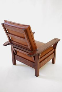 L & JG Stickley Morris Chair, C. 1915, Arts & Crafts- Mission Era | From a unique collection of antique and modern lounge chairs at https://www.1stdibs.com/furniture/seating/lounge-chairs/
