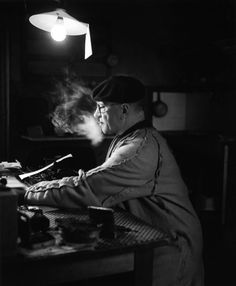 Blaise Cendrars, born Frédéric-Louis Sauser (1887-1961) - Swiss-born novelist and poet who became a naturalized French citizen in 1916. He was a writer of considerable influence in the European modernist movement. Photo © Robert Doisneau, Aix en Provence 1945