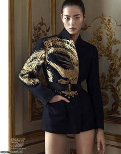 oriental tales: liu wen by karim sadli for vogue china december 2012 visual… Image Fashion, China Fashion, Couture Fashion, Runway Fashion, Womens Fashion, Vogue Fashion, Mode Outfits, Fashion Outfits, Vogue China