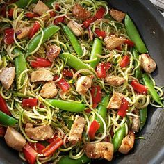 Clean Eating Asian Zucchini Noodle Stir-Fry http://cleanfoodcrush.com/asian-zucchini-noodle-stir-fry