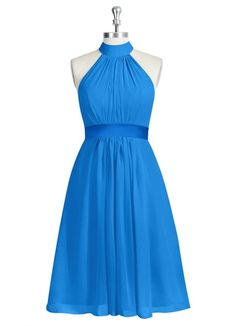AZAZIE AIYANA. Aiyana is a gorgeous knee-length A-line bridesmaid dress in exquisite chiffon with a sewn-in charmeuse belt. #Bridesmaid #Wedding #CustomDresses #AZAZIE
