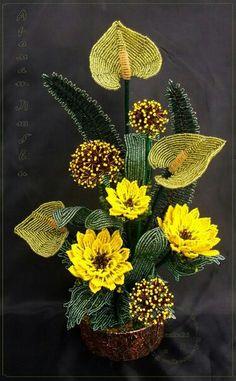 ¡ que mezcla exótica y bella de flores ¡