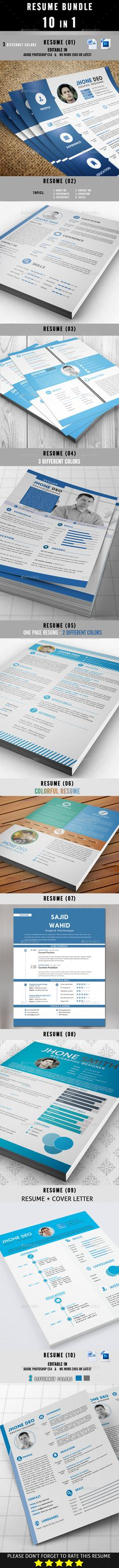Trifold Resume Cv template and Resume cv - microsoft office resume template