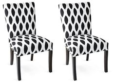Carly Side Chairs, Pair   A Room in Bloom   One Kings Lane