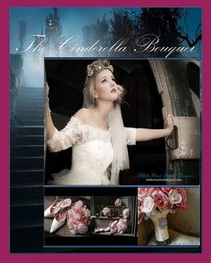 The Cinderella Bouquet  Set Available by OnceUponTimeWEdding