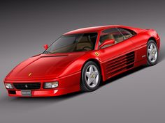 Ferrari 348 tb 1989 to 1995 Model in Sport Cars Maserati, Lamborghini, Ferrari 348, Alfa Romeo, Car 3d Model, Modelos 3d, Car Manufacturers, Amazing Cars, Sport Cars