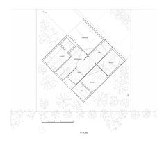 kame house by kochi architect's studio has a hexagonal void