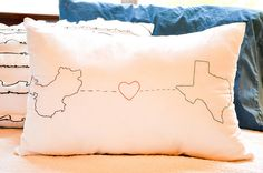 location pillows possibly embroider scotland + tx? http://inbetweenlaundry.blogspot.com/2011/08/embroidered-geography-love-pillow.html