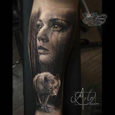 """Immaculate b&g execution by Arlo DiCristina Artist IG @arlotattoos #tattoo #artists #artcollective #spotlightonartists #arlodicristina #art #bng…"""