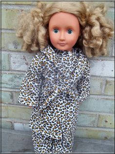 c865197066 American Girl Doll Clothes Flannel Leopard by BarbieBoutiqueBasics Call Of  The Wild
