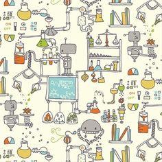 """Bio Stoff """"Robotic""""  Labor, """"The Lab"""" von Birch von FrauFrech-und-HerrFroehlich auf DaWanda.com"""