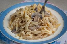 Simple yet delicious Italian pasta recipe of fettuccini with champignons and cheese #vegelicacy