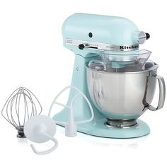 Crate U0026 Barrel KitchenAid ® Ice Blue Stand Mixer (1,315 SAR) ❤ Liked On