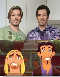 Ever notice how the Property Brothers are dopplegängers for Tulio and Miguel in The Road to El Dorado?