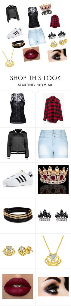 """""""urban queen"""" by vyesica-yv on Polyvore featuring Madewell, Boohoo, City Chic, adidas, Vita Fede, Fallon and plus size clothing"""