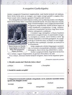 A veszprémi Gizella-kápolna szövegértés 1. Becsengőből Mary, Dyslexia