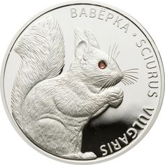 Belarus - 2009 - 2x 20 Roubles - Squirrel & Squirrels SET-2COINS swarovski crystals! - Coins with inserts - Unusual coins
