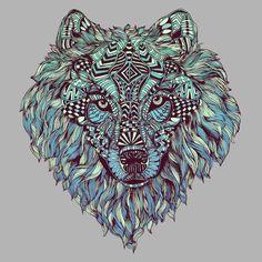 wolf, lone, wild, animals, patterns, nature, portrait, drawing