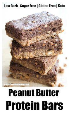 Sugar Free Energy Bars, Sugar Free Protein Bars, Healthy Protein Bars, Chocolate Protein Bars, Peanut Butter Protein Bars, Low Carb Protein Bars, Homemade Protein Bars, High Protein, Healthy Food