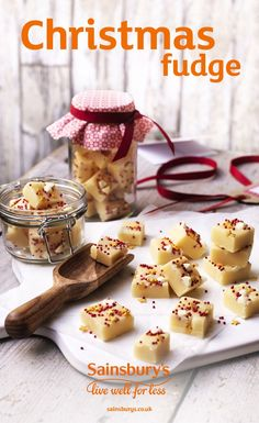 If you love fudge, then you will adore this delicious Christmas fudge recipe. Sprinkle gold and red stars on the top to make extra festive, this is a really sweet handmade gift idea