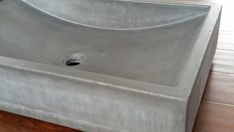 Concrete Vessel Sink Shallow Wave by CreatingConcrete on Etsy