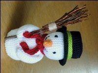 Gratis haakpatroon (nederlands) voor sneeuwman. Sneeuwpop - gratis patroon van de Haakbaak