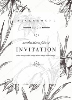 Pobieraj - Wedding invitation with flowers. — Ilustracja stockowa #73776169
