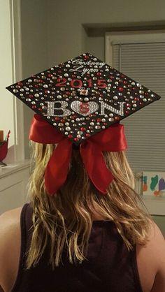 the bow Nursing Graduation Pictures, Nursing School Graduation, Nursing School Tips, Graduation Ideas, Graduation Cap Toppers, Graduation Cap Decoration, Grad Cap, Grown Up Parties, Grad Parties