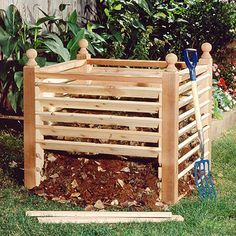 Make and Use Compost  good use for those shipping pallets