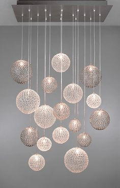 Custom lighting made easy. Whether you want individual pendan… - All For Decoration Stairway Lighting, Entryway Lighting, Interior Lighting, Suspended Lighting, Pooja Room Door Design, Ceiling Light Design, Hanging Ceiling Lights, Kitchen Pendant Lighting, Lighting Solutions
