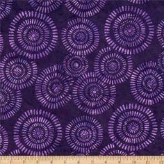Michael Miller Batik Aerial Plum from @fabricdotcom  Designed for Michael Miller Fabrics, this Indonesian batik is perfect for quilting, apparel and home décor accents. Colors include shades of purple.