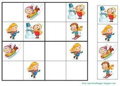 PETIT MON: MANDALES i SUDOKUS D' HIVERN Preschool Education, Preschool Math, Kindergarten Activities, Card Games For Kids, Sudoku Puzzles, Grande Section, File Folder Games, Matching Games, English Lessons