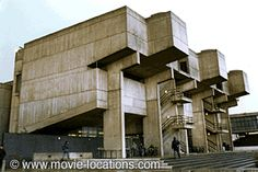 """Lecture center at Brunel University in Uxbridge, Greater London. Aka, """"Ludovico Medical Facility"""" where Alex undergoes aversion therapy in A Clockword Orange. Orange Architecture, University Architecture, Concrete Structure, Greater London, Built Environment, Filming Locations, Brutalist, Modern, Houses"""