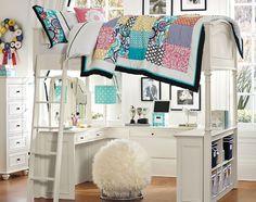 Teenage Girl Bedroom Ideas | Funtional Loft | PBteen I WANT THIS.