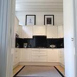 kitchens - white kitchen, white kitchen cabinets, white kitchen cabinetry, marquina marble,  Fabulous white kitchen with Marquina Marble