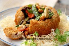 The Informal Chef: Chinese New Year Dinner: Yam Basket/Fatt Putt 佛钵 (盘满钵满)