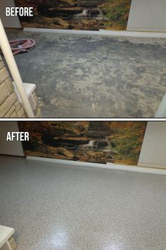 How to remodel a dirt basement floor doityourself basement epoxy chip basement floor the protector flakes system makes concrete flooring as beautiful as it solutioingenieria Image collections