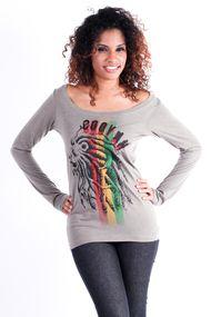 "Cooyah ""LION STRIPES"" long sleeve graphic tee $32 at Cooyah.com #REGGAE #RASTA #IRIE"