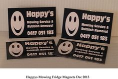Fridge Magnets printed by Tekneek Print and Design.