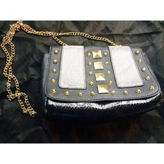 """H&M studded bag Cute stud embellished cross body bag by H&M. Faux leather, gold studs and chain strap, and magnetic snap closure. 8"""" x 5.5"""" x 3"""". Strap drop 21.5"""". H&M Bags Crossbody Bags"""