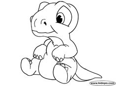 T-Rex Baby Dinosaur Coloring Pages