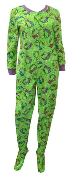 Teenage Mutant Ninja Turtle Onesie Footie Pajama This popular favorite is back! These pajamas for women feature Teenage Mutant . Lazy Day Outfits, Cute Outfits, Visual Kei, Ninja Turtle Onesie, Teenage Ninja Turtles, Creepy, Pjs, Comfy Pajamas, Women's Pajamas