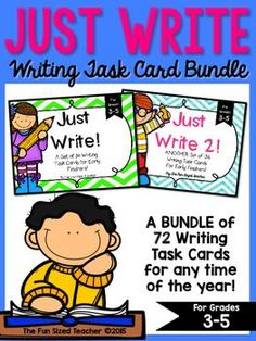 Do you have students who finish their assignments earlier than expected? Are you looking for some quick, no prep writing activities that will last all year? Than this is the product for you! It offers students who finish early a choice of engaging topics to write about, while keeping them busy and on task.